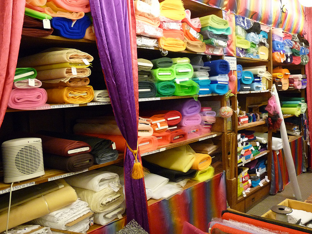 Cloth world fabric store