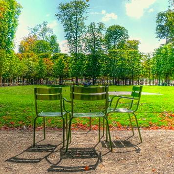 Five Paris Parks: Tuileries, Luxembourg, Boulogne, Monceau, Citroen, Vincennes