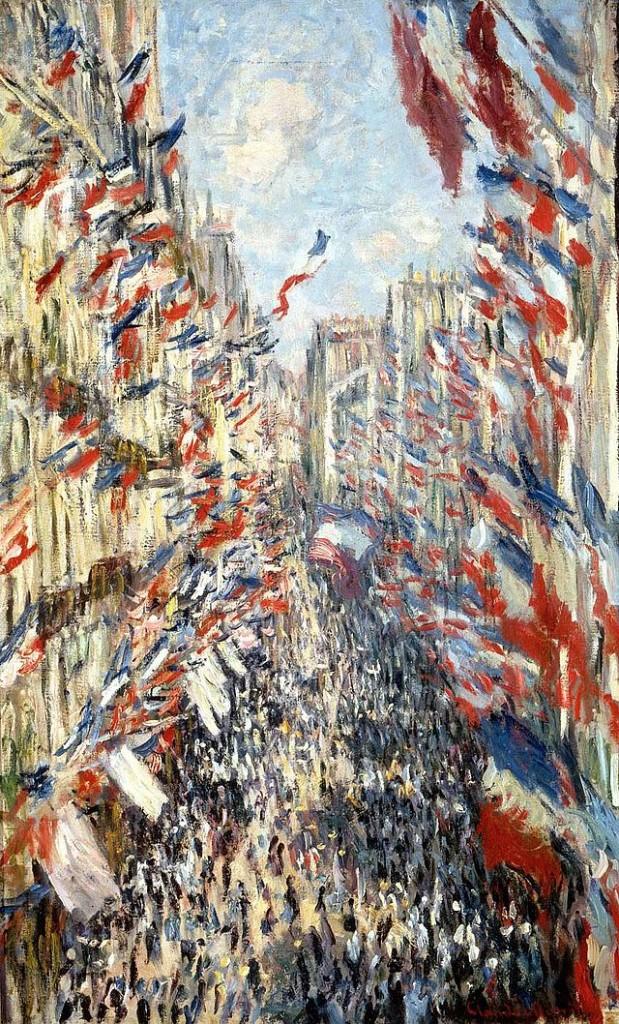 Claude Monet, La rue Montorgueil, à Paris. Fête du 30 juin 1878