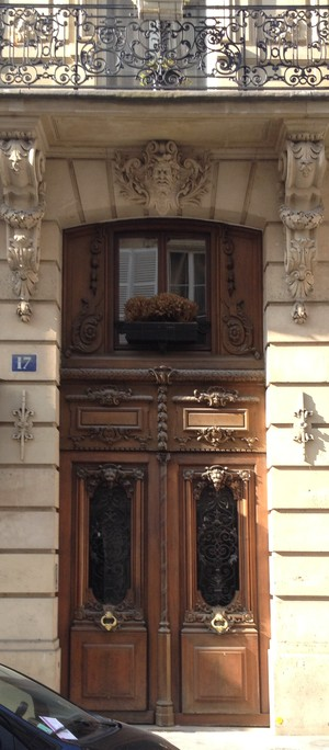 Parisian doorways. Two Doors, One Morning