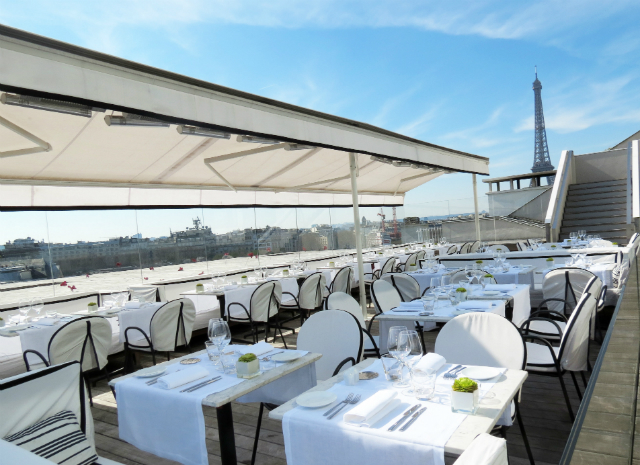 Top 10 restaurant terraces in paris for La maison du cafe paris