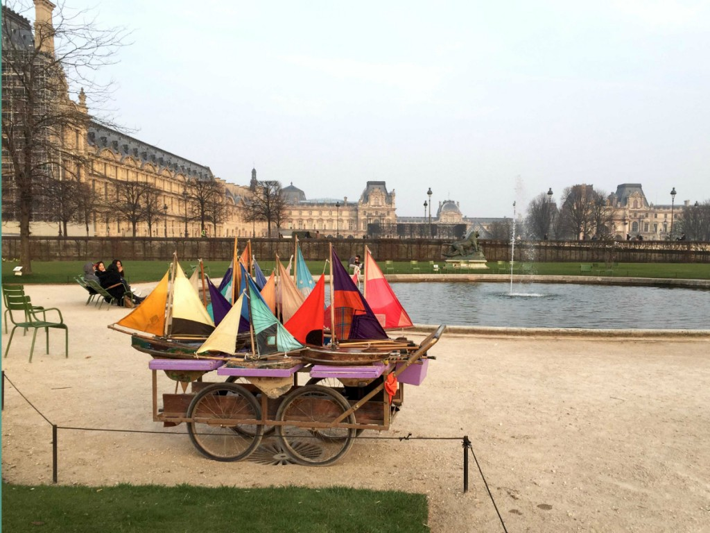 Sailboats in the Jardin des Tuileries by Corey Frye