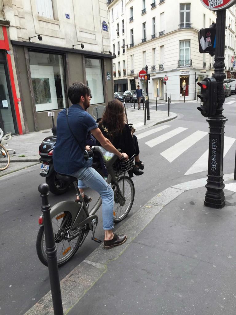 Biking by Velib in Paris