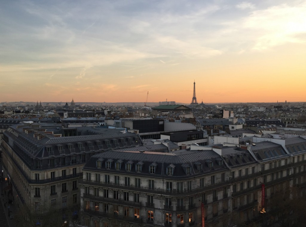 View from the rooftop at Galeries Lafayette/ Kasia Dietz