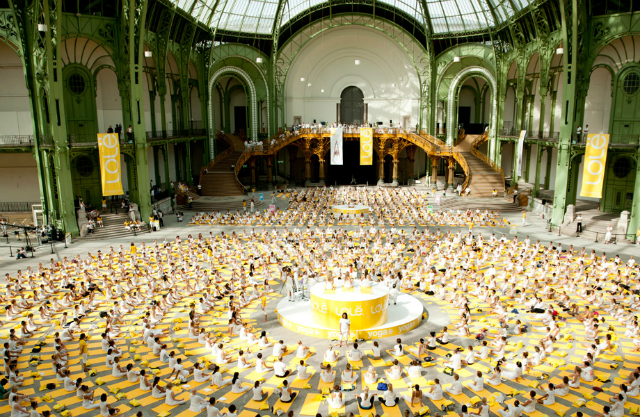 Yoga in the Grand Palais/ Lolë Paris