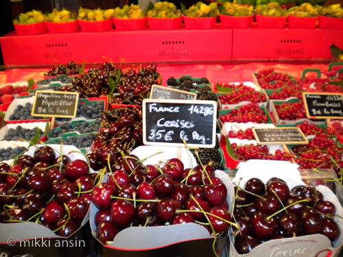 Cherries at Hediard