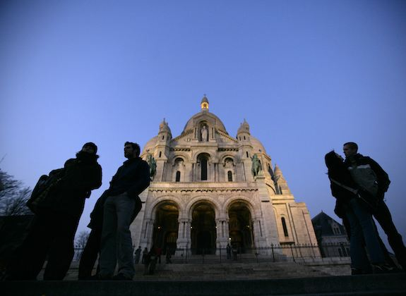 Sacre-Coeur at Night by Clay McLachlan