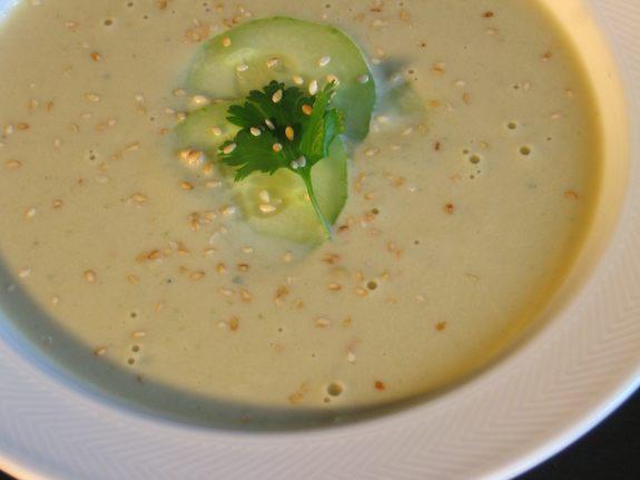 Cucumber Bean Soup: Veloute de Concombre et de Feves