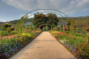 Giverney Home of Claude Monet peak of garden in bloom