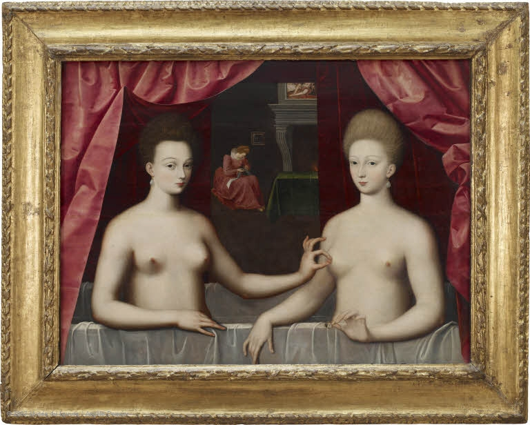Gabrielle d'Entrées and one of her sisters
