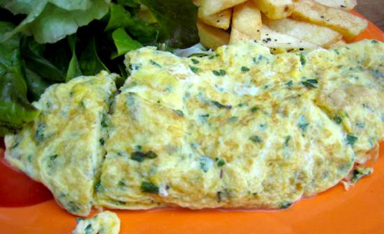 Recipe: Omelette aux Fines Herbes (Herb Omelet)