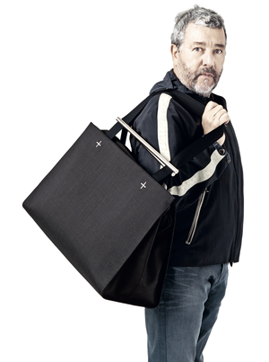 philippe starck and his wife jasmine clocked up kms travelling last year almost to the moon and back and a half times round the world