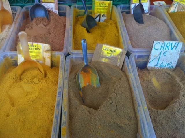 Spices at the Belleville market/ Emily Dilling