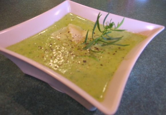Recipe for Zucchini Parmesan Soup or Soupe Courgettes Parmesan