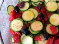 Zucchini Salad with Tomatoes, Lemon and Olives