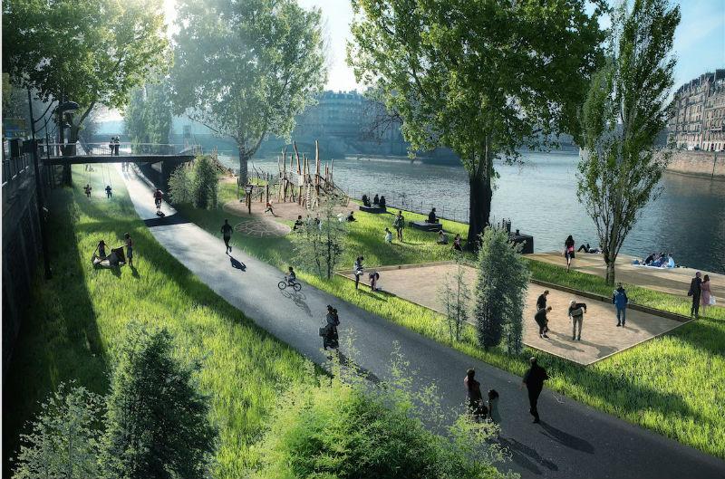 Berges de Seine/ courtesy Anne Hidalgo- Facebook