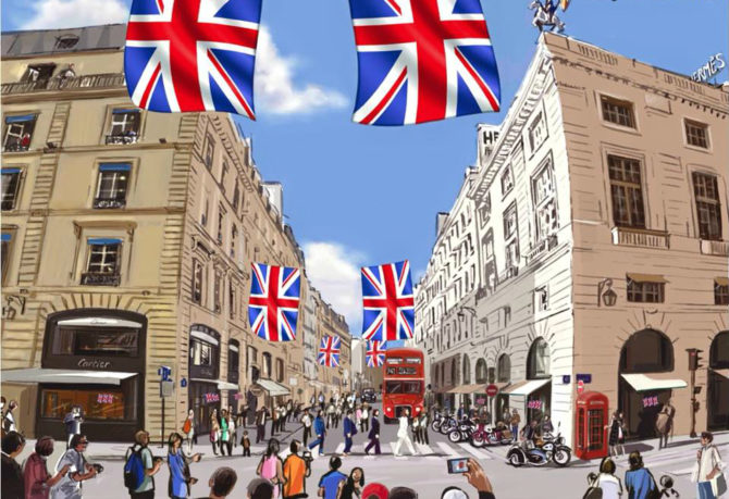 Rue du Faubourg Saint-Honoré Throws English-Style Street Party
