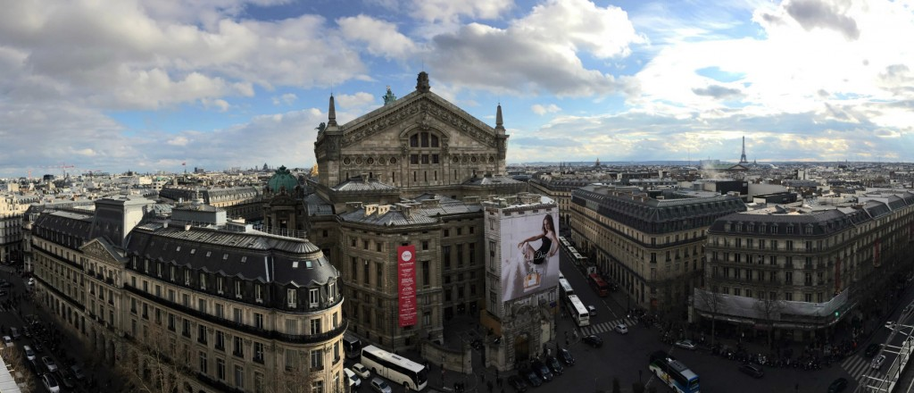 The view from the rooftop of Galeries Lafayette