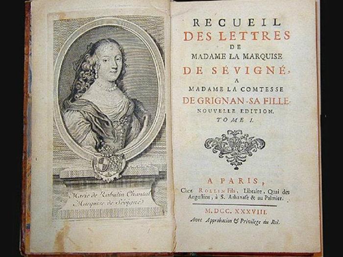Madame de Sévigné's letters courtesy of Grignan-guide
