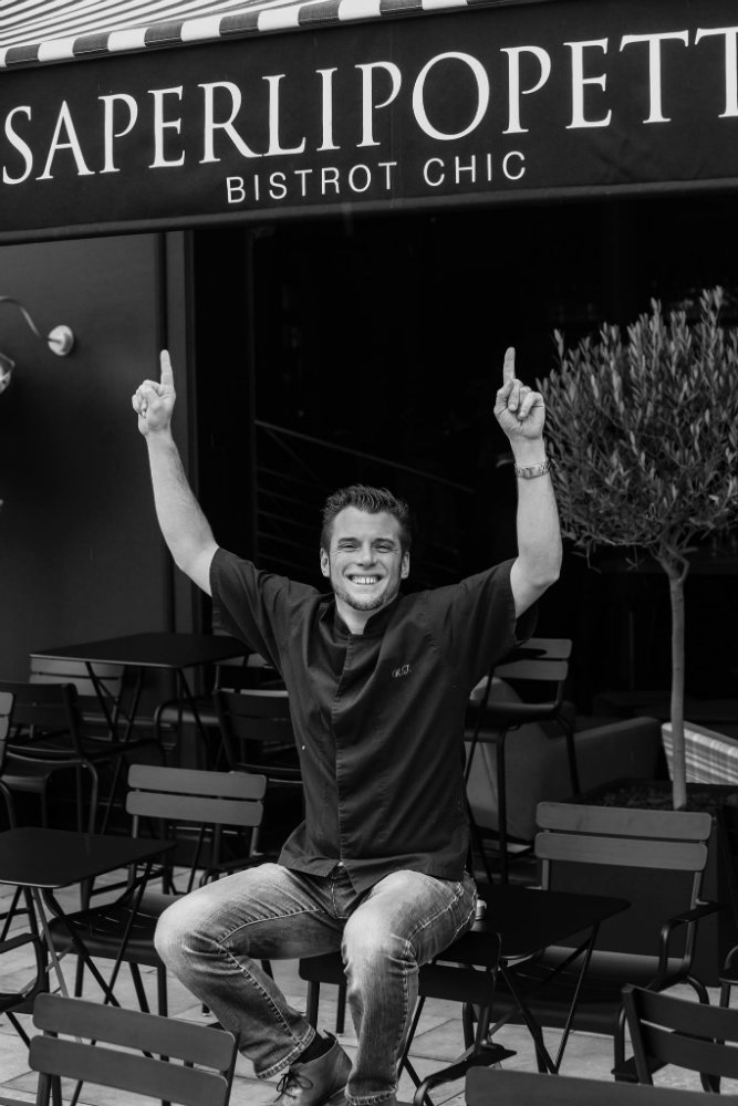chef Norbert Tarayre celebrates the restaurant opening