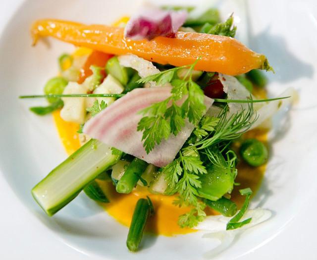Vegetables at Saperlipopette restaurant