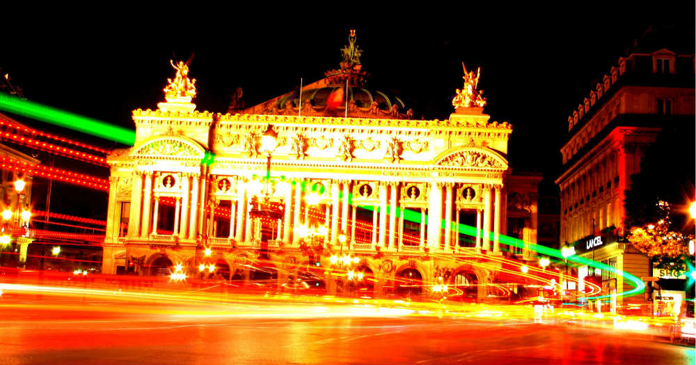 The Paris Opéra at night by Greg Chadwick