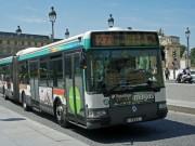 Paris bus near the Louvre