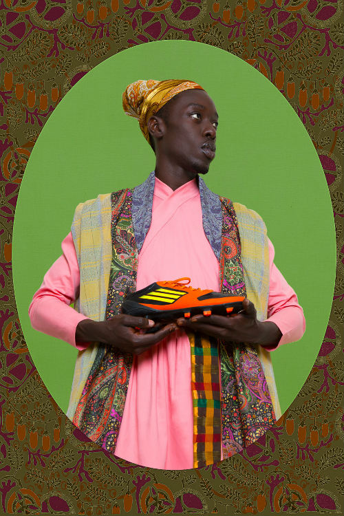 Omar Victor Diop, Ikhlas Khan, from the Diaspora series, 2015.