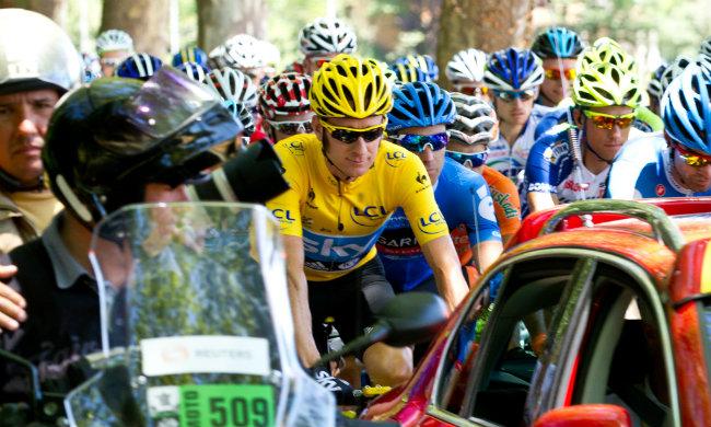 Bradley Wiggins leads the Tour de France by Robert King/Flickr