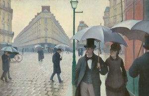 "Gustave Caillebotte, ""Paris Street; Rainy Day 1877""/ Public Domain"