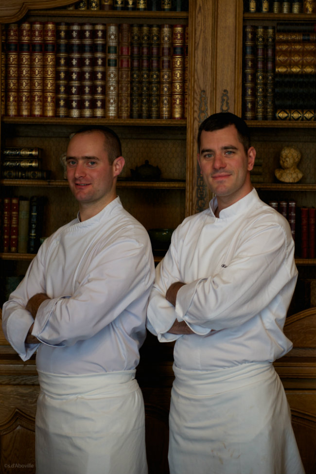 The chefs at Le 1728 Restaurant in Paris/ S d'Aboville