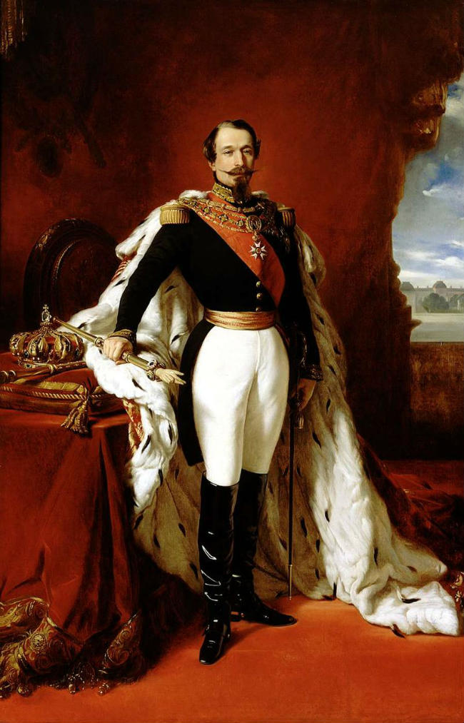 Napoleon III in 1855/ After Franz Xaver Winterhalter/ Public Domain