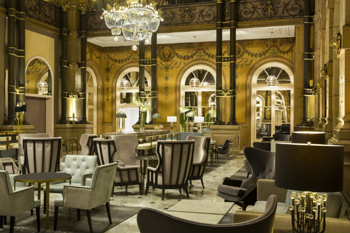 The renovated lobby, Hilton Paris Opera