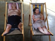 The Martin Parr beach chairs at his Rencontres d'Arles exhibit.