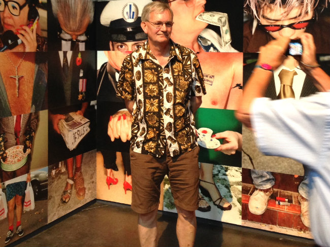 Martin Parr at his Rencontres d'Arles exhibit
