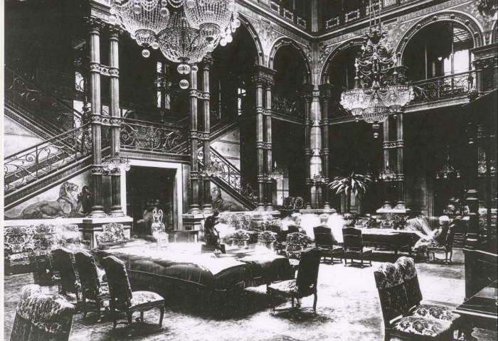 The historic lobby (back in the day), courtesy of Hilton Paris Opera