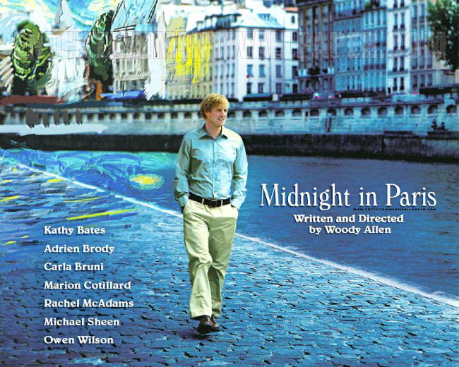 The poster for Woody Allen's Midnight in Paris
