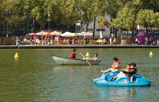 Boats on the Bassin de la Villette by OTCP/ Marc Bertand