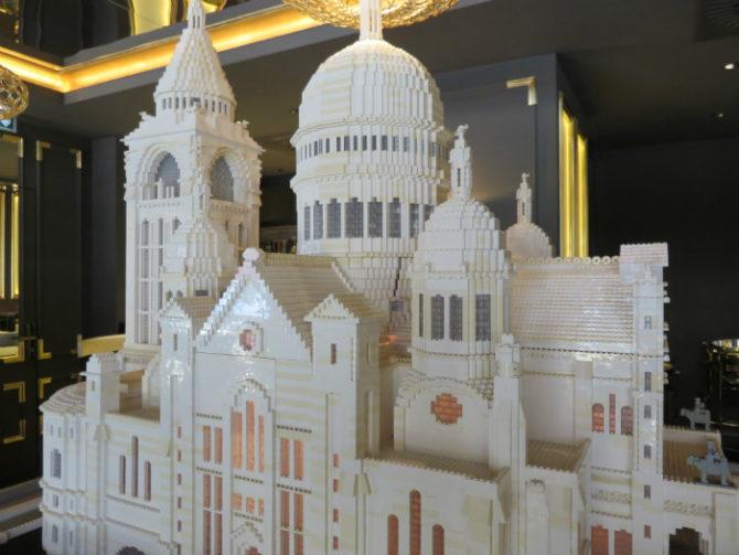 See Paris Monuments Made from Legos at Hilton Paris Opera