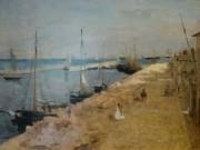 Berthe Morisot, Le port de Cherbourg - 1871 © Yale University Art Gallery.
