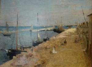 Berthe Morisot, Le port de Cherbourg - 1871 © Yale University Art Gallery.