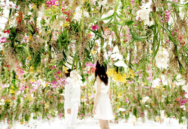 Floating Flower Garden exhibition by teamLab at Maison & Objet