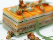 A pretty dish at Les Flocons de Sel restaurant