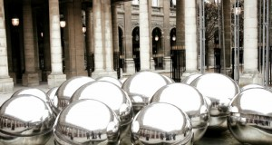 Pol Bury's Sphérades fountains in the Palais Royal, by Virginia Jones