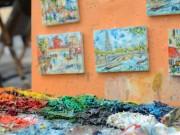 Art in Montmartre by Leah Walker
