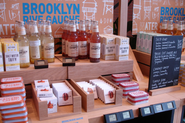 Brooklyn-inspired food products at Le Bon Marché