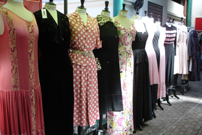 vintage dresses at the Paris Puces