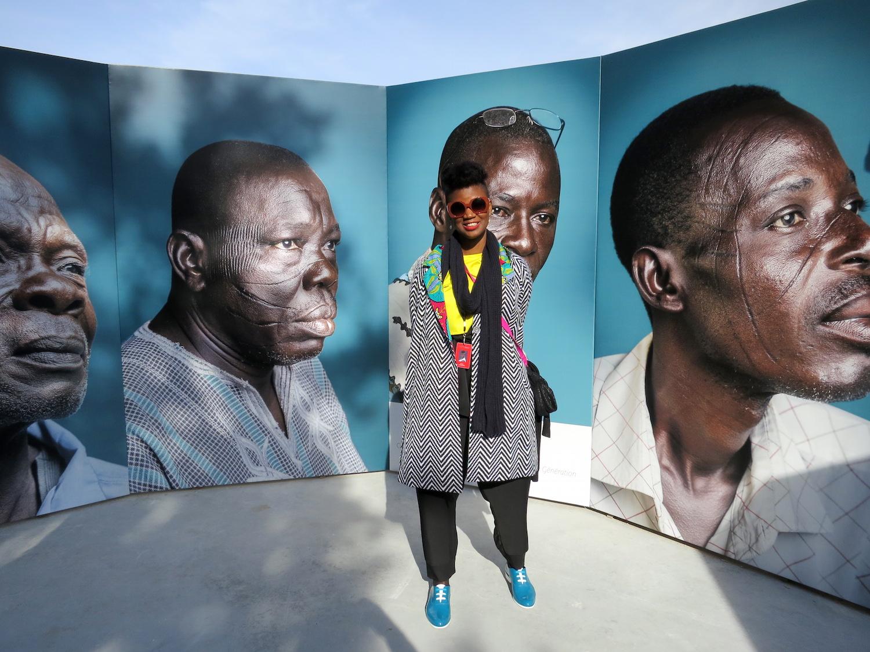 Joana Choumali's at Photoquai 2015 ©Sylvia Davis