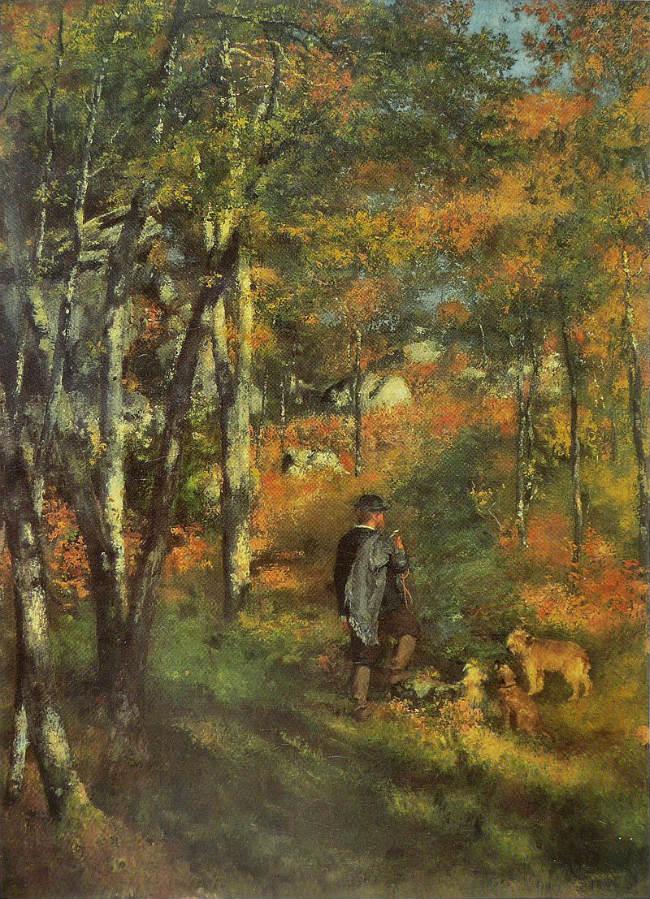 Le Peintre Jules Le Cœur dans la forêt de Fontainebleau, (1886) Renoir