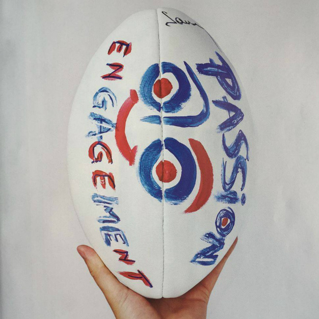 chef Guy Savoy's rugby ball